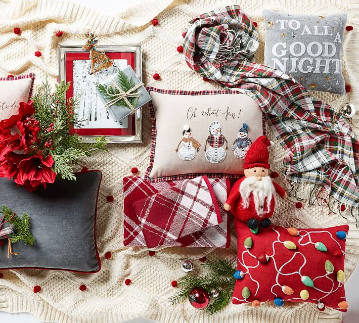 Merry Amp Bright Lights Decorative Pillow Pottery Barn
