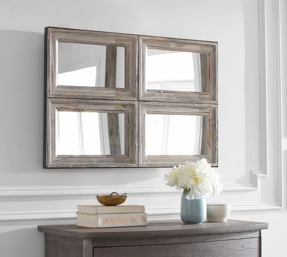 Aiden Accent Paneled Wall Mirror Pottery Barn