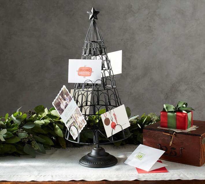 Christmas Tree Card Holder Pottery Barn