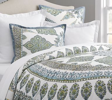 Cool Multi Aurora Patterned Duvet Cover Sham Pottery Barn