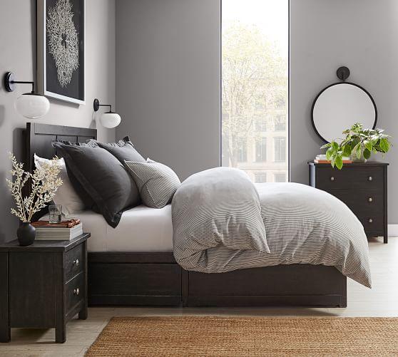 Tacoma Storage Platform Bed Headboard Pottery Barn,Living Room Arts And Crafts Interiors