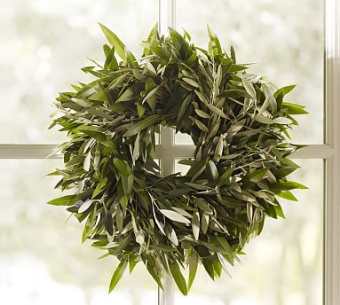Live Olive Amp Bay Wreath Pottery Barn