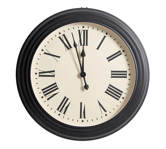Caroline Oversized Wall Clocks Pottery Barn