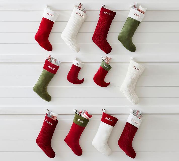 Classic Velvet Personalized Stockings Pottery Barn