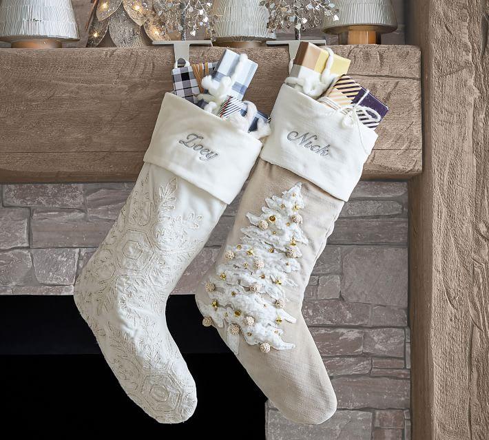 Embellished Velvet Personalized Stockings