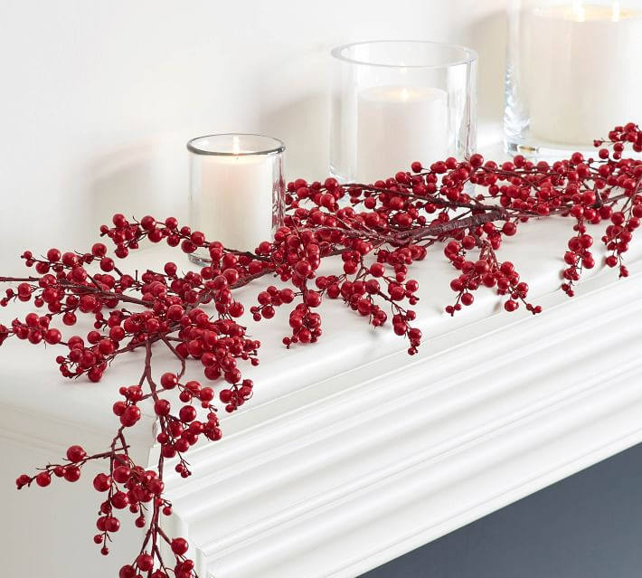 Faux Red Berry Garland Pottery Barn