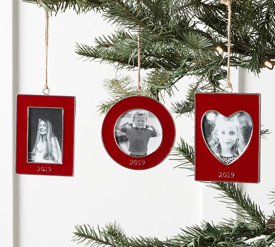 2019 Enamel Frame Ornaments Red Pottery Barn