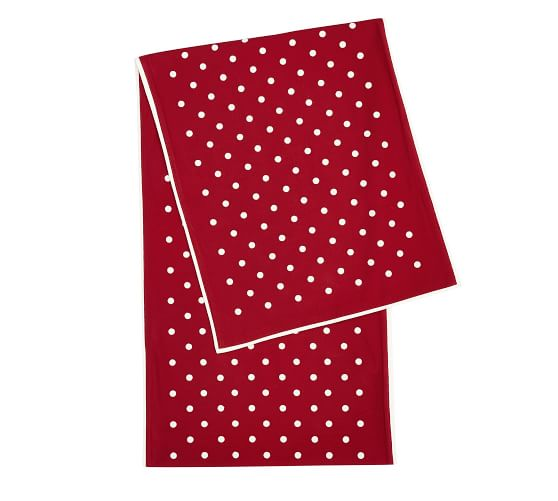 Pottery Barn Polka Dot Embroidered Cocktail Napkins Set of Red /& White New 4