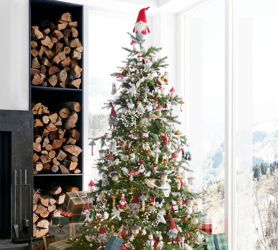 6 5ft 7 5ft 9ft Pre Lit Portland Pine Artificial Christmas Trees Pottery Barn
