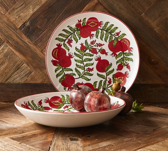 Pomegranate Serving Platter Pottery Barn