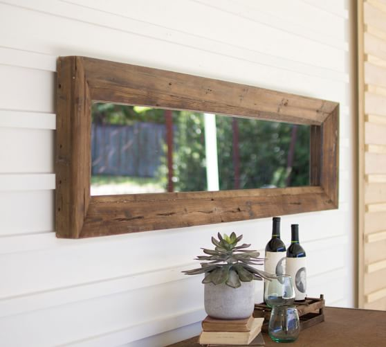 Recycled Wood Frame Wall Mirror Pottery Barn