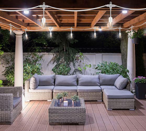 Indoor Outdoor String Lights White, Outdoor Hanging Lights For Pergola