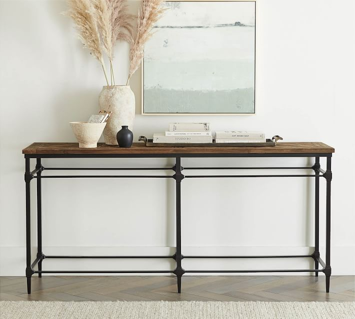 Parquet 71 Reclaimed Wood Console Table Pottery Barn