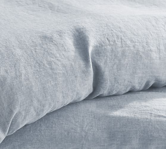 Belgian Flax Linen Duvet Cover With Ties Pottery Barn