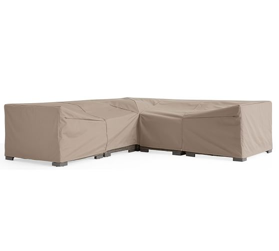 Huntington Build Your Own Sectional Custom Fit Outdoor Furniture Covers Pottery Barn