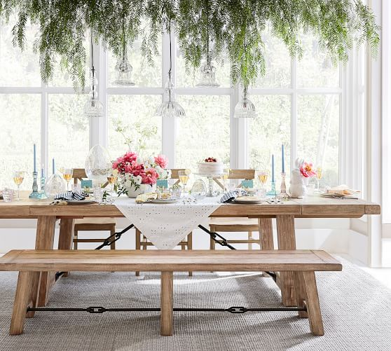 Benchwright Extending Dining Table Seadrift Pottery Barn