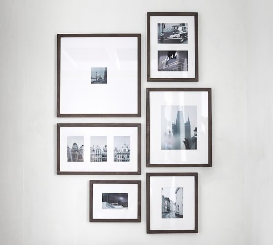 """many sizes Square gallery wood picture frame,1/"""" boarder for table top or wall"""