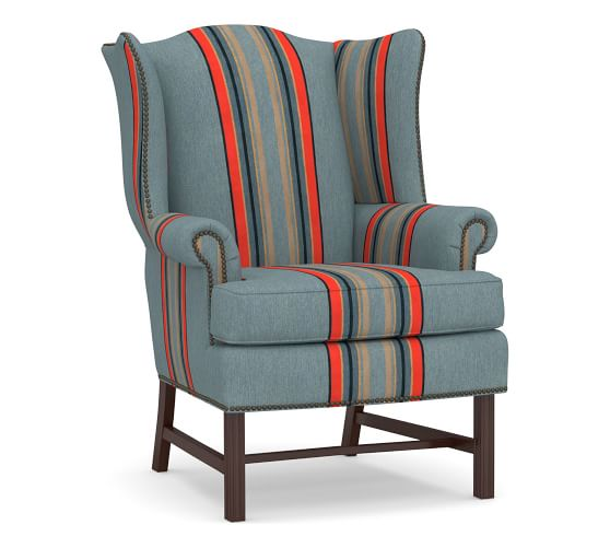 Thatcher Upholstered Wingback Chair Pottery Barn