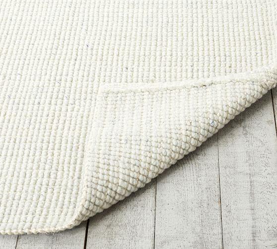 Chunky Wool Jute Rug Chambray