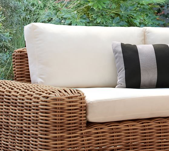 Monterey All Weather Wicker Outdoor Furniture Cushion Slipcover Pottery Barn