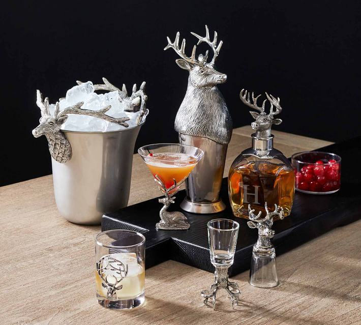 Stag Martini Glasses Set Of 2 Pottery Barn