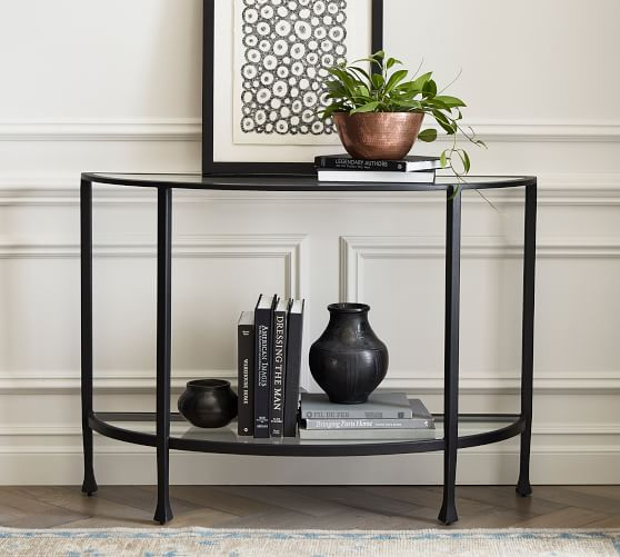 Tanner 42 Demilune Console Table Pottery Barn
