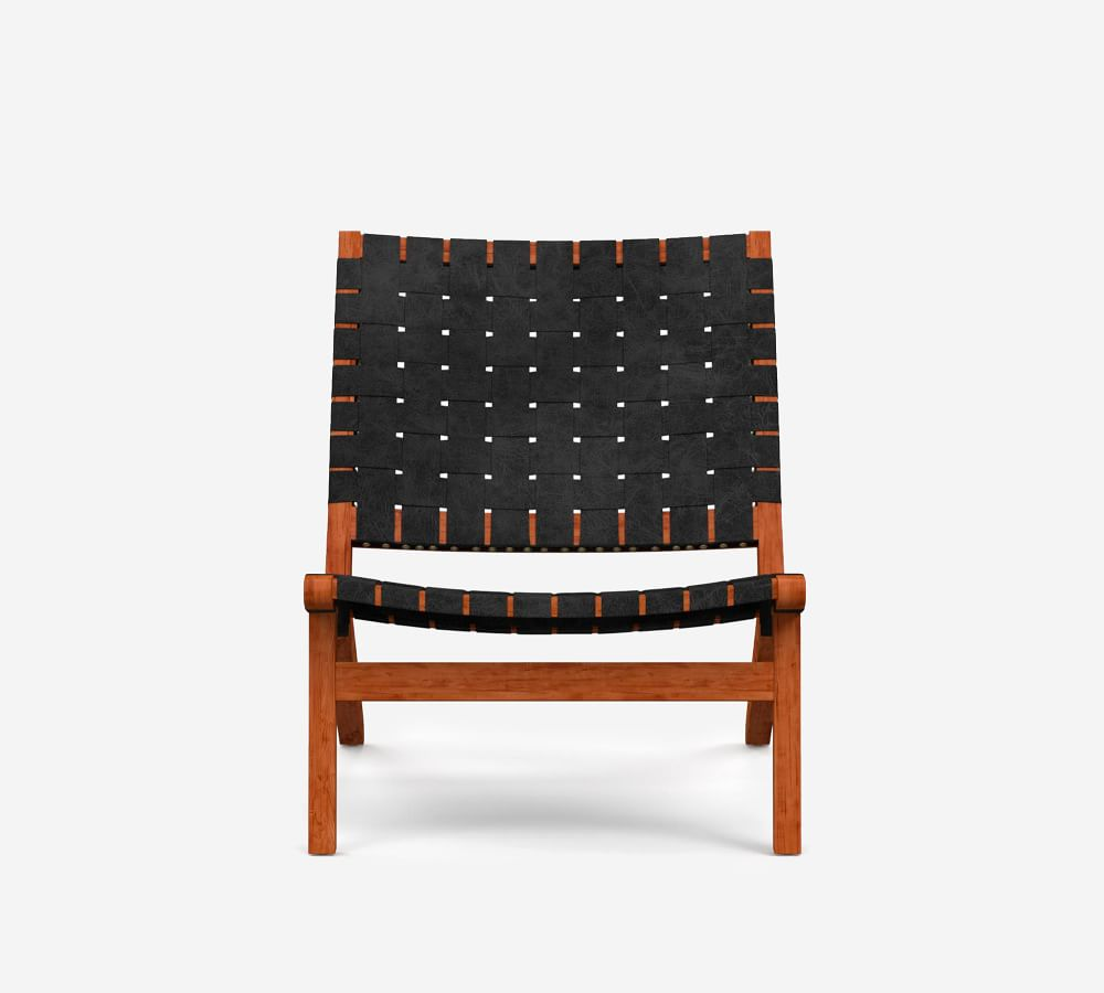 Fenton Woven Leather Accent Chair