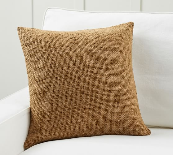 Faye Linen Textured Pillow Covers Pottery Barn