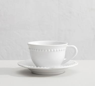 Set of 4 Pottery Barn EMMA Yellow coffee mugs cups