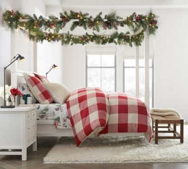 Christmas Bedding Christmas Sheets Duvets Pottery Barn