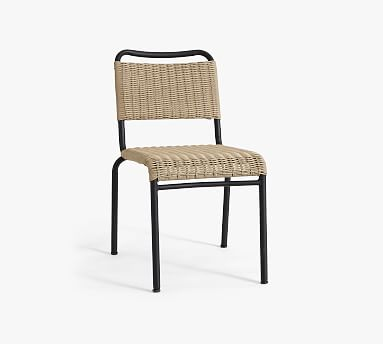 Tulum All Weather Wicker Stacking Dining Chair Pottery Barn
