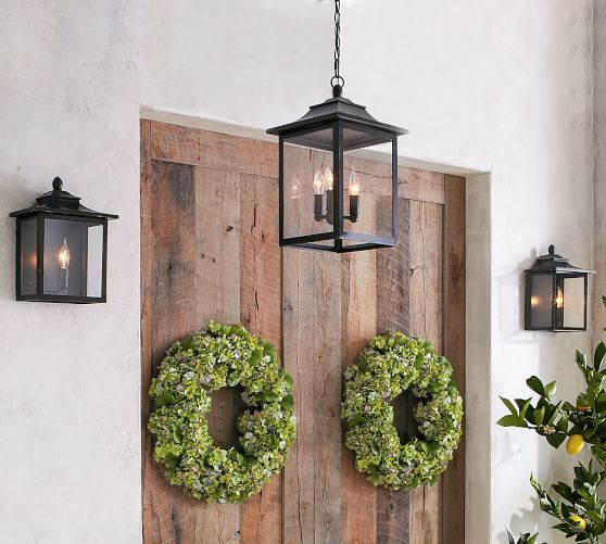 Classic Lantern Outdoor Sconce Pottery Barn