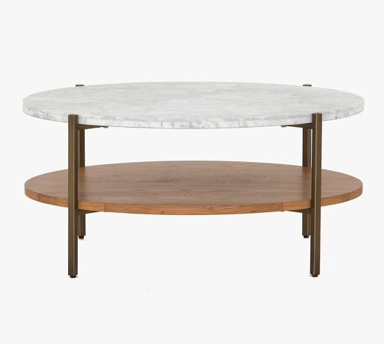 Modern 36 Oval Marble Coffee Table Pottery Barn