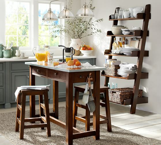 Balboa Counter Height Table Stool 3 Piece Dining Set Espresso Pottery Barn