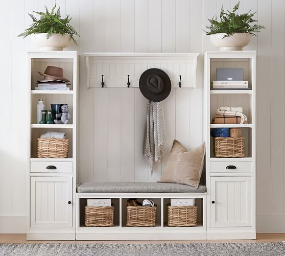 Aubrey 4 Piece Entryway Set With Cabinets Pottery Barn
