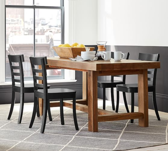 Perfect Pair Reed Extending Dining Table Liam Chair Pottery Barn