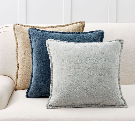Chenille Jacquard Pillow Covers Pottery Barn