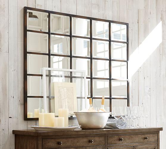 Eagan Large Multipanel Wall Mirror 44 X 55 Pottery Barn