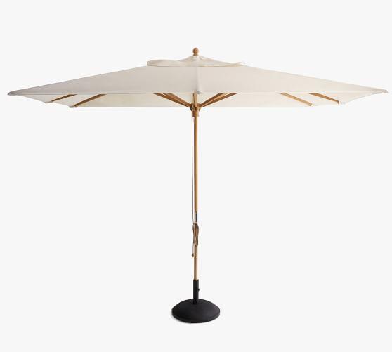 10 rectangular outdoor umbrella fsc teak frame