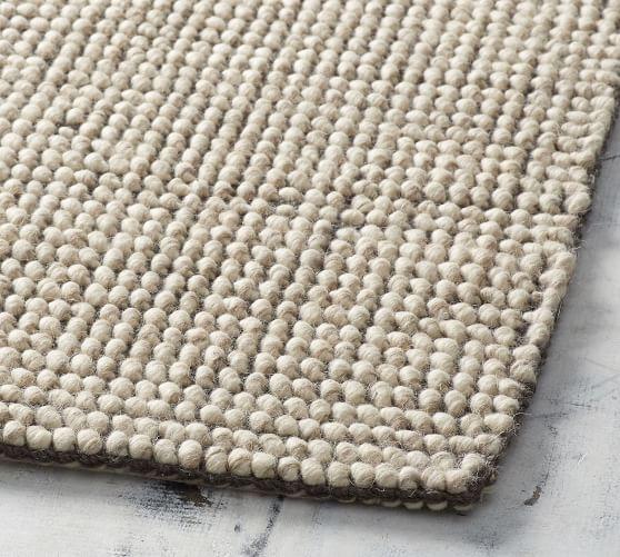 Boucle Wool Jute Rug Pottery Barn