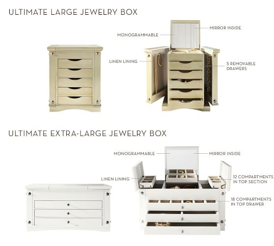 Ultimate Wooden Jewelry Box Extra Large Pottery Barn