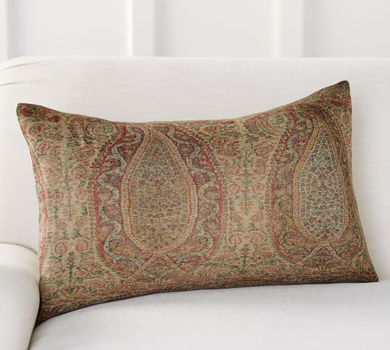 Charlene Paisley Lumbar Decorative Pillow Cover Pottery Barn