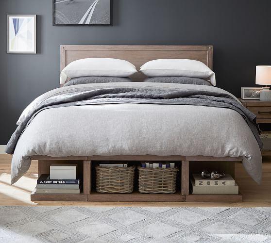 Brooklyn Storage Platform Bed, Queen Size Platform Bed With Storage And Headboard