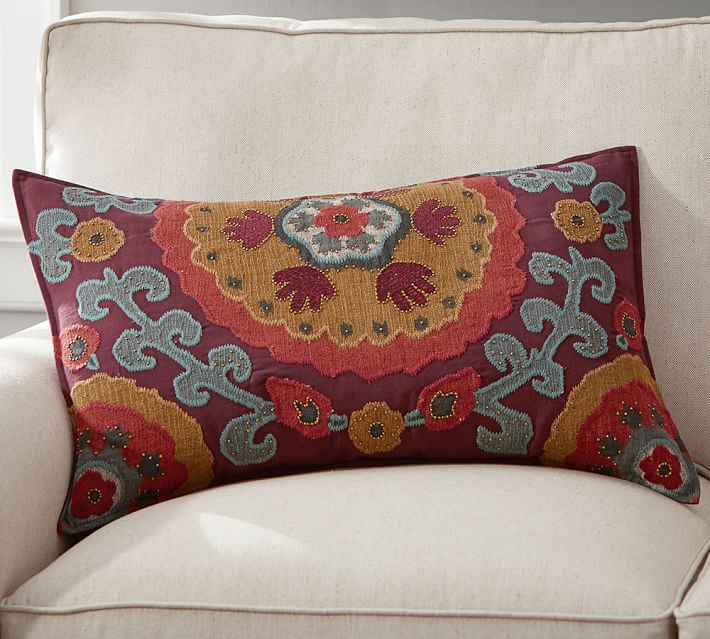 Houston Suzani Lumbar Decorative Pillow Cover Pottery Barn