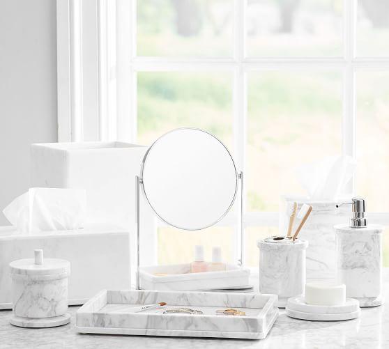 Monique Lhuillier Marble Bathroom Accessories Pottery Barn