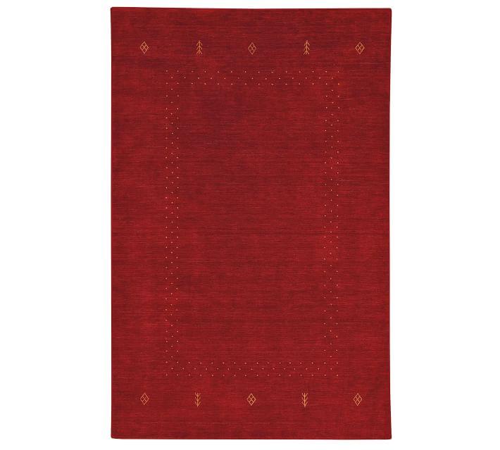 Aeron Handwoven Gabbeh Wool Rug Pottery Barn