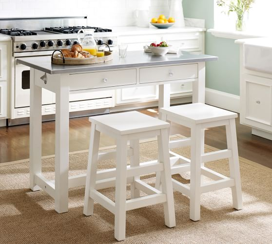 Balboa Counter Height Table Stool 3 Piece Dining Set White Pottery Barn