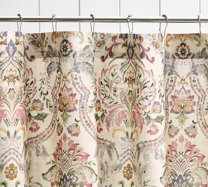 Ivana Printed Shower Curtain Pottery Barn
