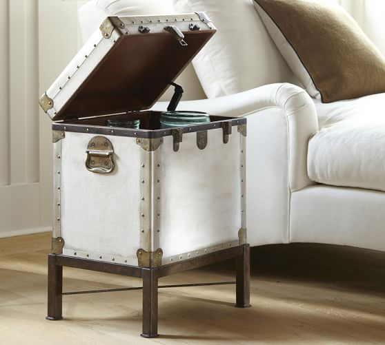 Ludlow 18 5 Trunk End Table Pottery Barn, White Trunk Furniture