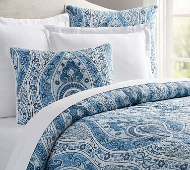 FULL QUEEN Red  Fall//Christmas NEW NWT POTTERY BARN SWEENEY PAISLEY QUILT